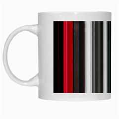 Miracle Mile Pattern White Mugs
