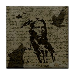 Indian Chief Tile Coasters by Valentinaart