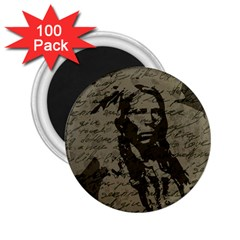 Indian Chief 2 25  Magnets (100 Pack)  by Valentinaart