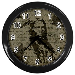 Indian Chief Wall Clocks (black) by Valentinaart