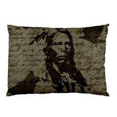 Indian Chief Pillow Case by Valentinaart