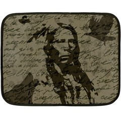 Indian Chief Fleece Blanket (mini) by Valentinaart