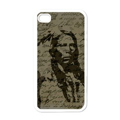 Indian Chief Apple Iphone 4 Case (white) by Valentinaart