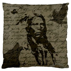 Indian Chief Large Cushion Case (two Sides) by Valentinaart