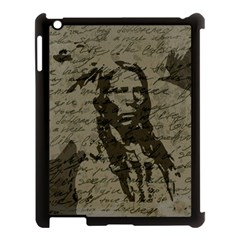 Indian Chief Apple Ipad 3/4 Case (black) by Valentinaart