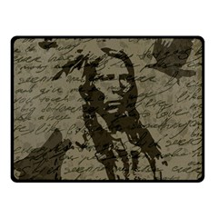 Indian Chief Double Sided Fleece Blanket (small)  by Valentinaart