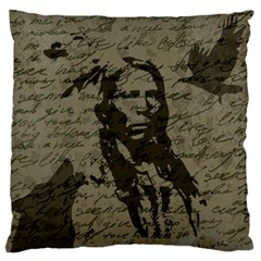 Indian Chief Standard Flano Cushion Case (one Side) by Valentinaart