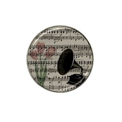 Vintage Music Design Hat Clip Ball Marker by Valentinaart
