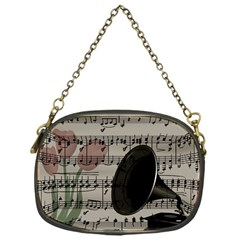 Vintage Music Design Chain Purses (one Side)  by Valentinaart