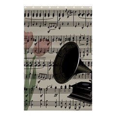 Vintage Music Design Shower Curtain 48  X 72  (small)  by Valentinaart