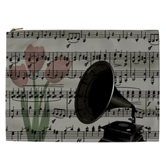 Vintage Music Design Cosmetic Bag (xxl)  by Valentinaart