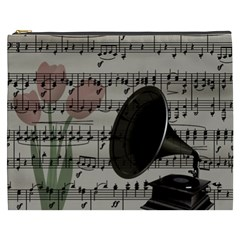 Vintage Music Design Cosmetic Bag (xxxl)  by Valentinaart