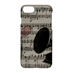 Vintage Music Design Apple Iphone 7 Hardshell Case by Valentinaart