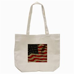Vintage American Flag Tote Bag (cream) by Valentinaart