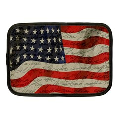 Vintage American Flag Netbook Case (medium)  by Valentinaart
