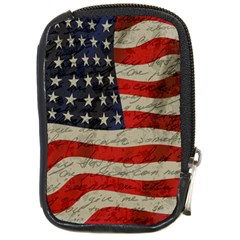 Vintage American Flag Compact Camera Cases by Valentinaart