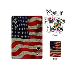 Vintage American Flag Playing Cards 54 (mini)  by Valentinaart