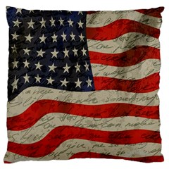 Vintage American Flag Large Cushion Case (two Sides) by Valentinaart
