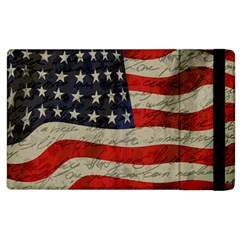Vintage American Flag Apple Ipad 3/4 Flip Case by Valentinaart