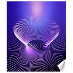 Abstract Fractal 3d Purple Artistic Pattern Line Canvas 8  X 10
