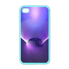 Abstract Fractal 3d Purple Artistic Pattern Line Apple Iphone 4 Case (color) by Simbadda