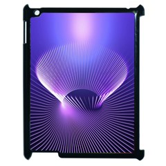 Abstract Fractal 3d Purple Artistic Pattern Line Apple Ipad 2 Case (black) by Simbadda