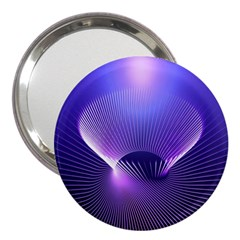 Abstract Fractal 3d Purple Artistic Pattern Line 3  Handbag Mirrors