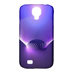 Abstract Fractal 3d Purple Artistic Pattern Line Samsung Galaxy S4 Classic Hardshell Case (pc+silicone)