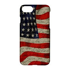 Vintage American Flag Apple Iphone 7 Hardshell Case by Valentinaart
