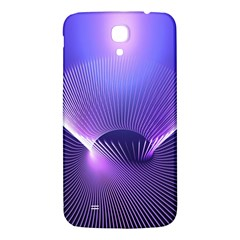 Abstract Fractal 3d Purple Artistic Pattern Line Samsung Galaxy Mega I9200 Hardshell Back Case by Simbadda