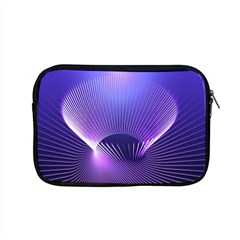 Abstract Fractal 3d Purple Artistic Pattern Line Apple Macbook Pro 15  Zipper Case by Simbadda