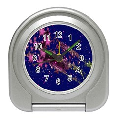 Stars Abstract Shine Spots Lines Travel Alarm Clocks by Simbadda