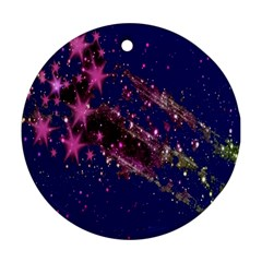 Stars Abstract Shine Spots Lines Round Ornament (two Sides) by Simbadda