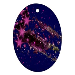 Stars Abstract Shine Spots Lines Oval Ornament (two Sides) by Simbadda