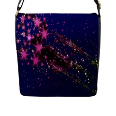 Stars Abstract Shine Spots Lines Flap Messenger Bag (l)  by Simbadda