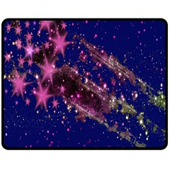 Stars Abstract Shine Spots Lines Double Sided Fleece Blanket (medium)
