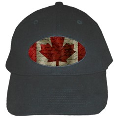 Canada Flag Black Cap by Valentinaart