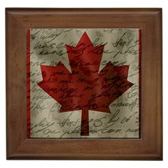 Canada Flag Framed Tiles by Valentinaart