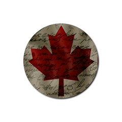 Canada Flag Rubber Round Coaster (4 Pack)  by Valentinaart