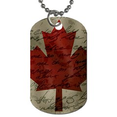 Canada Flag Dog Tag (two Sides) by Valentinaart