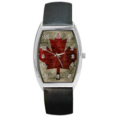 Canada Flag Barrel Style Metal Watch by Valentinaart