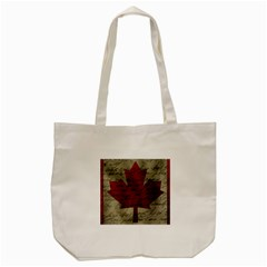 Canada Flag Tote Bag (cream) by Valentinaart