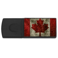 Canada Flag Usb Flash Drive Rectangular (4 Gb)