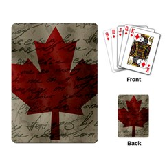 Canada Flag Playing Card by Valentinaart