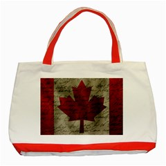 Canada Flag Classic Tote Bag (red) by Valentinaart