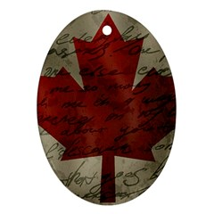 Canada Flag Oval Ornament (two Sides) by Valentinaart