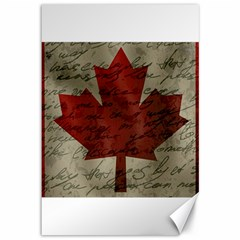 Canada Flag Canvas 12  X 18   by Valentinaart