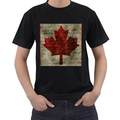 Canada Flag Men s T Shirt (black) by Valentinaart