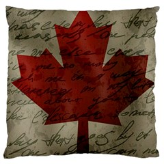 Canada Flag Large Cushion Case (two Sides) by Valentinaart