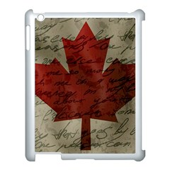 Canada Flag Apple Ipad 3/4 Case (white) by Valentinaart